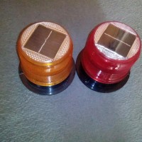 Baliza autónoma solar con base magnética 15 LED de alta intensidad